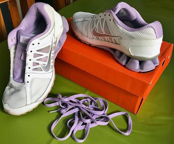 Zapatillas Nike Running Blancas (capsulas De Aire) 38/39