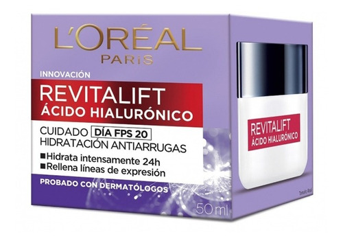 Crema Facial Loreal Revitalif Hialuronico Dia 50ml