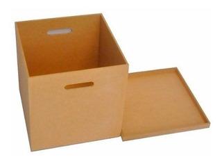 Caixa Organizadora Para Discos Vinil/lp Em Mdf Cru Oferta