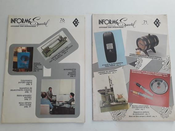 Revistas Informe Special Anuário Da Indústria Nº71,76