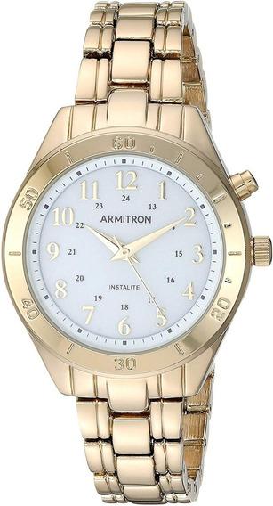 Armitron Mujer 75/5677wtgp Reloj Retroiluminado Dorado 31mm