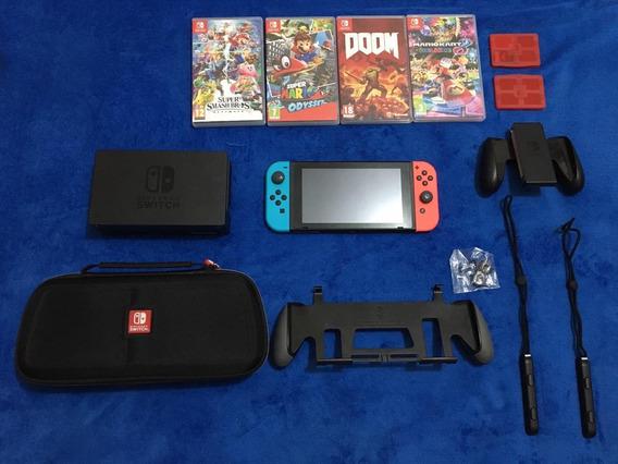 Nintendo Switch - Neon (completão)