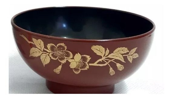 Tigela Oriental Para Missoshiru Owan Com Desenho Flor Sakura