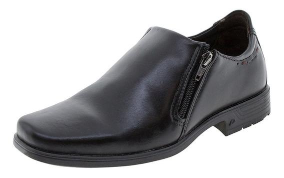 Sapato Masculino Social Pegada - 22101 Preto/zíper