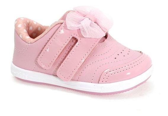 Tênis Kidy Baby Laço Menina Rosa