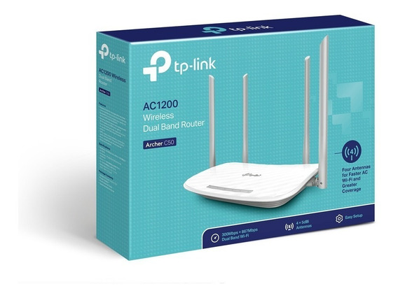 Roteador Wifi Tp-link Archer C50 Ac1200 Dualband + Nf 1ano G