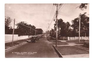 Postal Antigua De Barranquilla Avenida Colombia