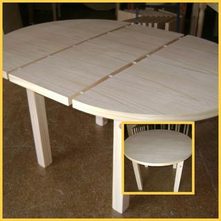 Mesa Redonda Extensible Ideal Cocina - Muebles para el Hogar ...