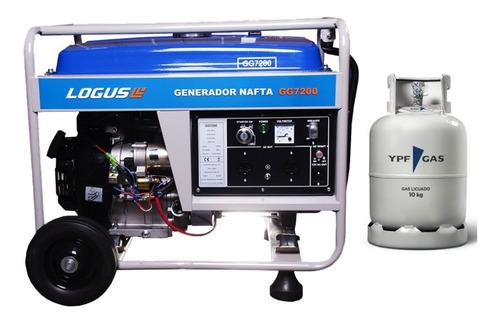 Generador Gas Logus Gg7200 6000w + Transferencia Automática.