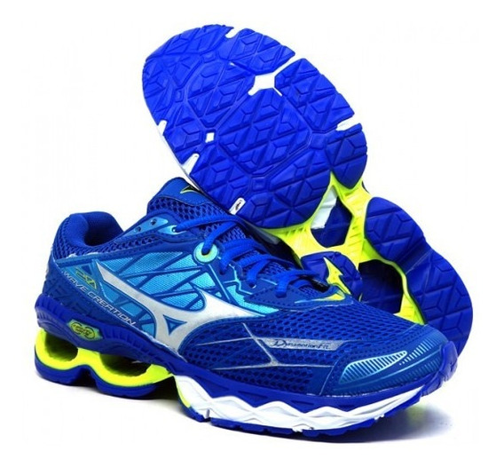 Tênis Mizuno Wave Creation 20 Azul E Verde