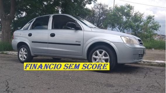 Gm Corsa Sedan 2006 Flex Com Direção Financio Sem Score