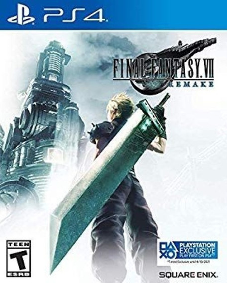 Final Fantasy 7 Remake Ps4 Locação 8dias Pt-br Ff7