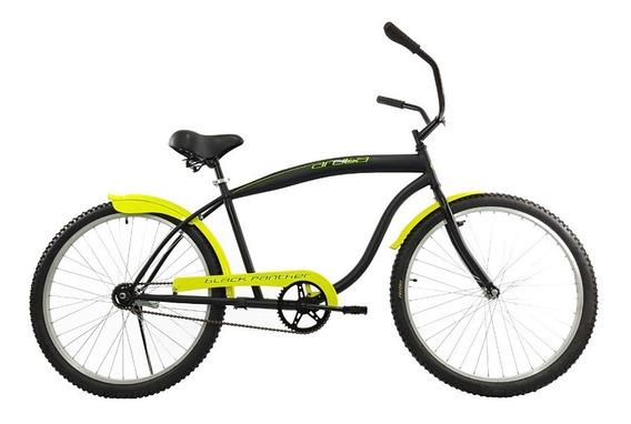Bicicleta Cruiser Retro Aruba Black Panther Rodada 26 Urbana