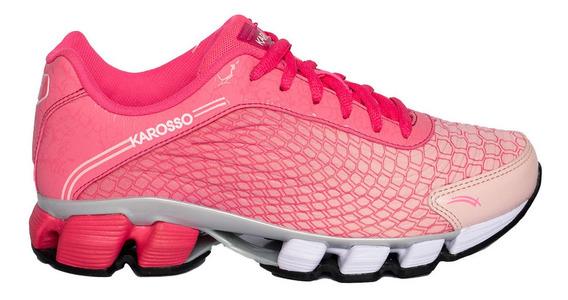 Tenis Para Correr Mujer Karosso Rosa 6321