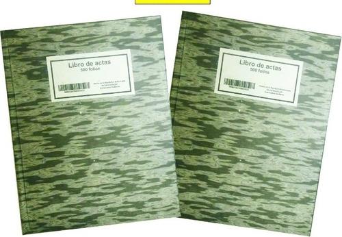 Libro De Acta De 500 Folios-oferta 2x1