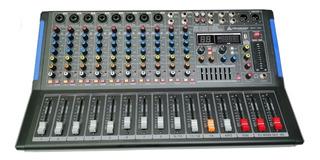 Consola Mezcladora Italy 12 Canales Qxt-12e Usb Bluetooth