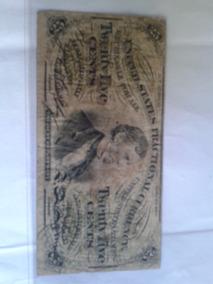 Cédula De 25 Cents De Dolar Usa De 1863
