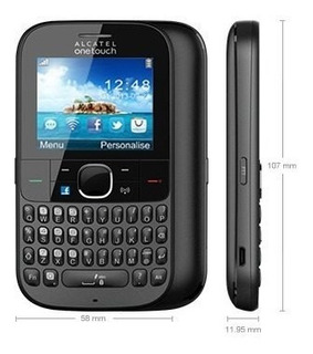 Alcatel One Touch 3075m Cinza Wifi, Bluetooth 2.1, 3g