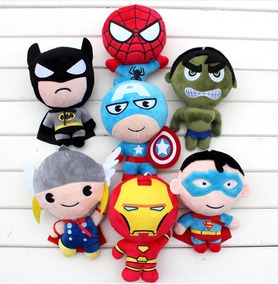 Pelucia Marvel Vingadores Spiderman Superman Thor Batman