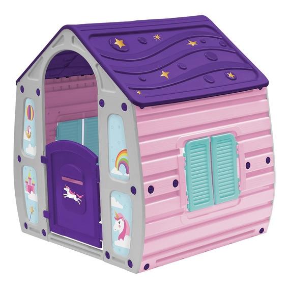 Casinha De Brinquedo Portátil Infantil Unicórnio Belfix