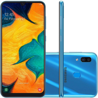 Smartphone Galaxy A30, 64gb, 16mp, Tela 6.4, Azul Sm-a305gt