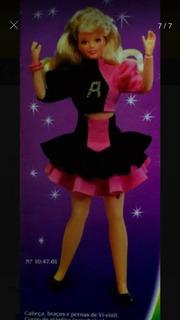 Boneca Barbie Angélica Cantora Mãos Flexíveis Estrela Antiga