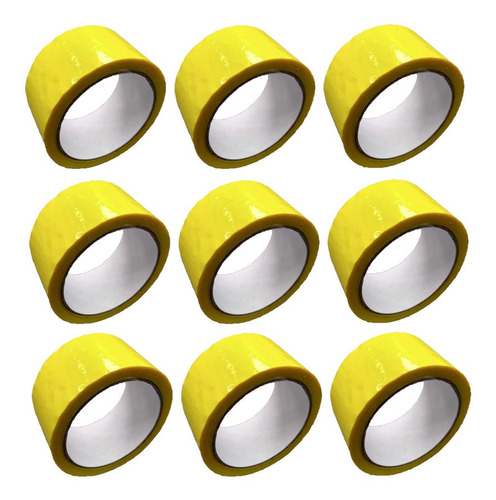 E Cinta Amarilla Adhesiva X 9 Unidades