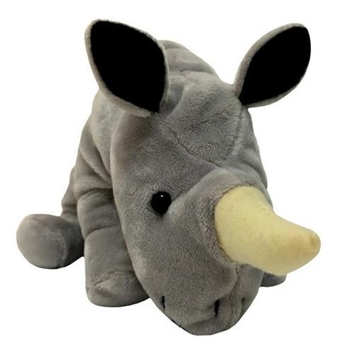 Peluche Animal Rinoceronte Real Parado 20 Cm.