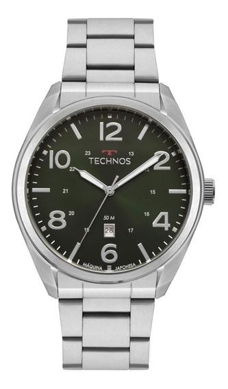 Relógio Technos Masculino Aço Verde 2115mta/1v