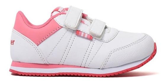 Zapatillas Topper Theo Cs Velcro Blanca/ros De Bebes