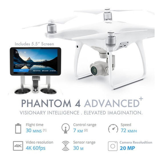 Drone Dji Phantom 4 Plus Advanced 4k+ Tela-pronta Entrega