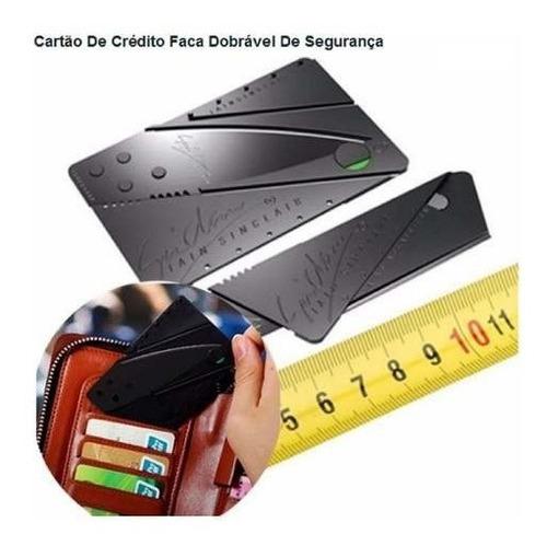 Imagem 1 de 7 de Cartão Faca Canivete Dobrável Leve E Fácil De Usar Carbono