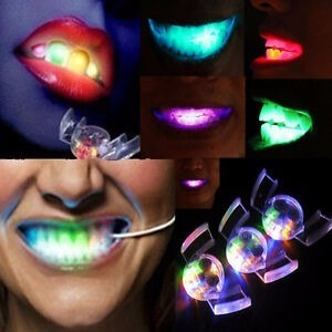 Dientes Luminosos Led Protector Bucal Cotillon Luminoso