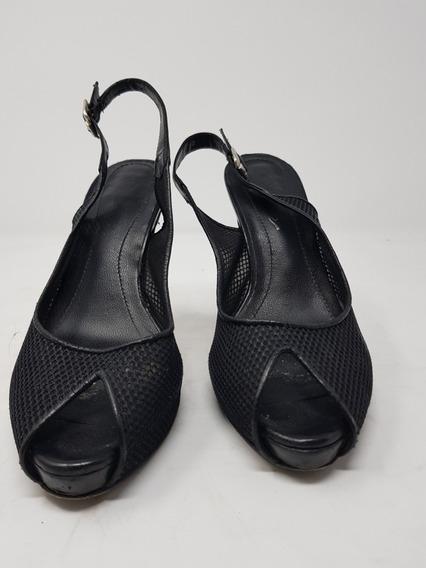 Zapato Tacón Alto Dione Malla Negro* La Segunda Bazar