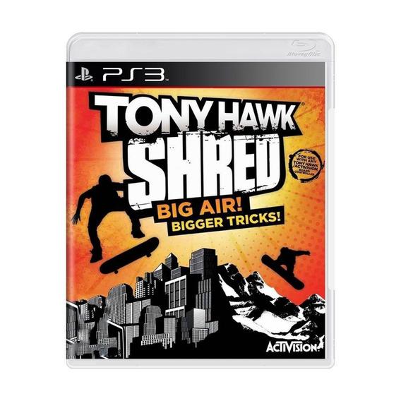 Tony Hawk Shred Big Air Bigger Tricks Ps3 Mídia Física