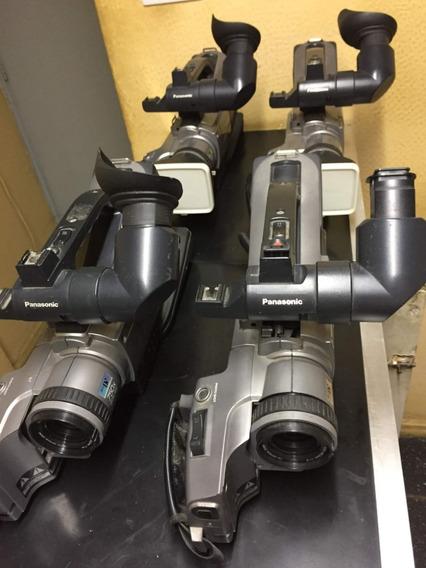 Lote De 4 Filmadoras Panasonic Ag-dvc7 Com Defeitos Diversos