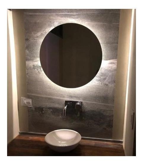 Espejo Luz Led 60 Cm Diam Redondo Para Baño Accesorios Caba