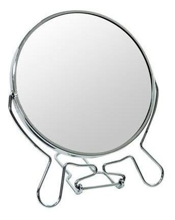 Espelho De Mesa Dupla Face Com Aumento P/ Ótica E Maquiagem