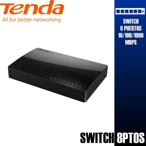 Imagen 1 de 9 de Switch Tenda Gigabit 8 Puertos Lan Fibra 10/100/1000 Mbps