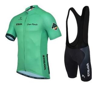 Uniforme Ciclismo Strava Gran Fondo Verde - Envío Gratis