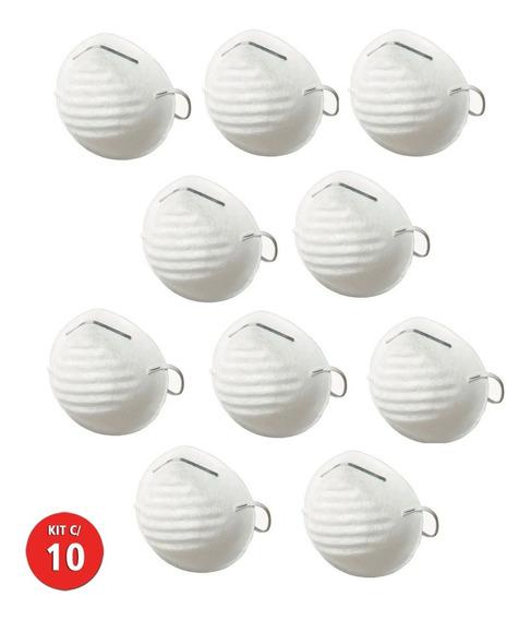 10 Mascara Respiratória Proteção Tipo Concha Descartável