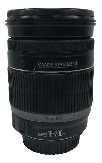 Lente Canon Ef-s 18-200mm F/3.5-5.6 Is Seminova
