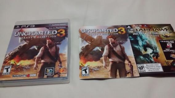Uncharted 3 Original Ps3 Midia Fisica Portugues