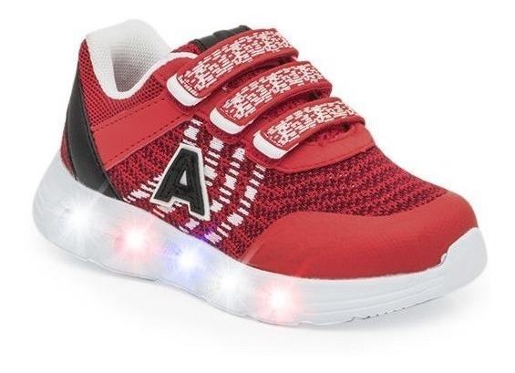 Zapatillas Addnice Arrow Con Velcro Rojas 25-29 De Niños