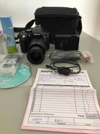 Câmera Profissional D5300 Praticamente Nova.
