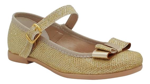 Zapato Guillermina Bautismo/comunión/fiesta - Nena Oro