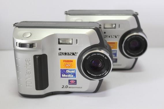 2 Câmera Fotografica Sony Mavica Mvc-fd200 Retro P/coleção