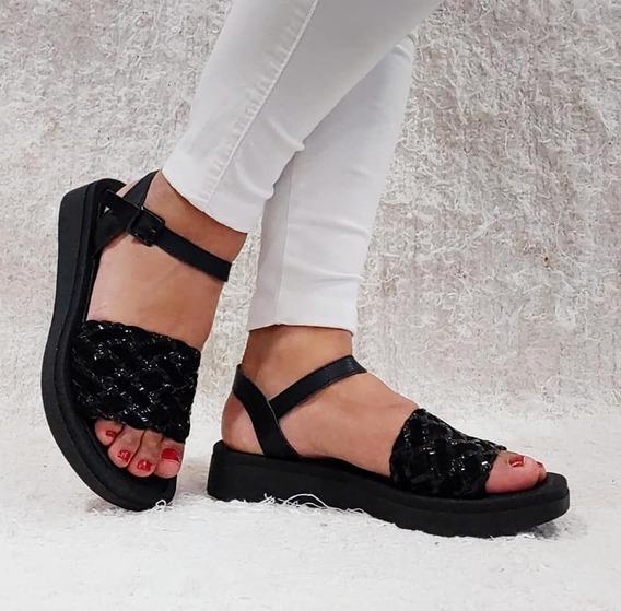 Sandalias Mujer Zapatos Sandalias Bajas Perlas Livianas Comodas Moda 51