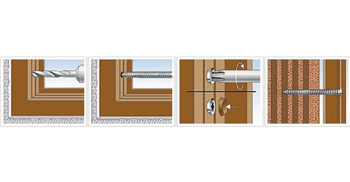 fischer 532932 532932-Tornillo fijacion directa Sobre hormigon Para Carpinteria FFS 7,5 x 112 T30 Envase de 100 UD.