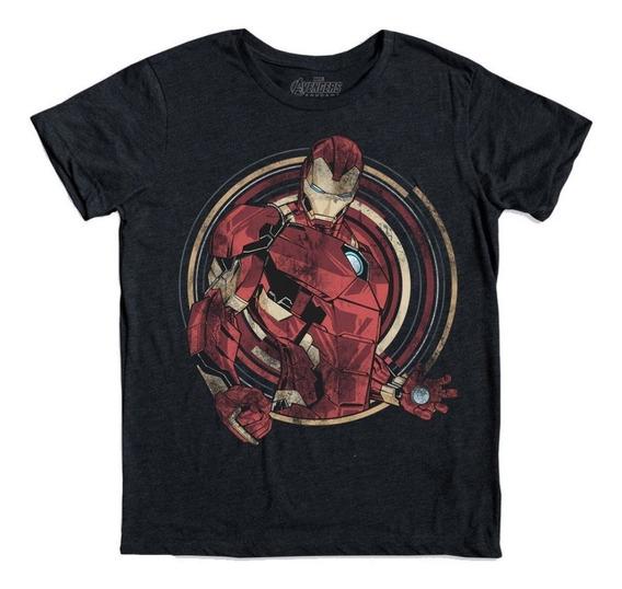 Playera Mascara De Latex Iron Man Avengers